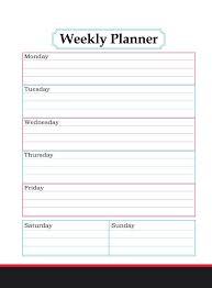Planner 2020 Template Free Printable Weekly Calendar 2019 2020 Template Pdf