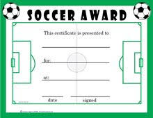 soccer awards templates 8 best certificate images on pinterest birthday ideas card