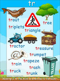 Tr Words Tr Sound Free Printable Poster Great For