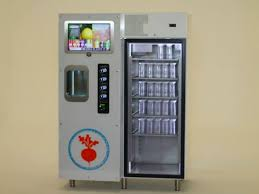 Cold Pressed Juice Vending Machine Fascinating Meet The Juicebot A Fancy Vending Machine For ColdPressed Juice