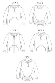 Sweatshirt Pattern Impressive Halifax Hoodie Sewing Pattern by Hey June