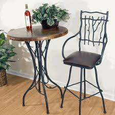 wrought iron and wood furniture. Bar Tables Wrought Iron And Wood Furniture