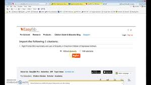 Importing Ebsco Mla Citations Into Easybib