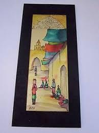 image is loading vintage judaica hadar aviv israeli artist enamel wall  on vintage enamel wall art with vintage judaica hadar aviv israeli artist enamel wall art plaque