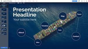 Design For Logistics Ppt Shipping Trade Presentation Template Prezibase