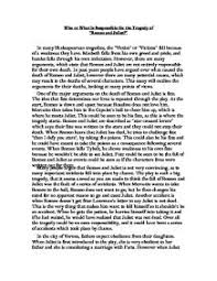 who or what is responsible for the tragedy of romeo and juliet  page 1 zoom in