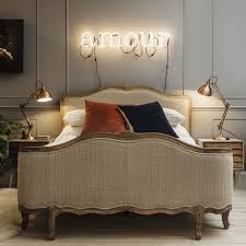 King Size Bedroom Antoinette King Size Bed In Herringbone With Footboard Beds