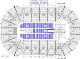 Bradley Center Detailed Seating Chart Complete Bradley Center Seat Map Resch Center Hockey Seating
