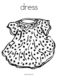 Small Picture dress Coloring Page Twisty Noodle