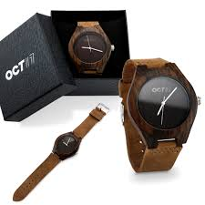 oct 17 oct17 luxury men s walnut wood fashion bamboo wooden watch quartz genuine leather japanese quartz movement casual wrisches brown com