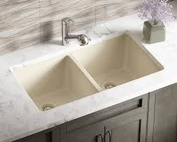 Beige Kitchen 802beige double equal bowl trugranite kitchen sink 1166 by guidejewelry.us