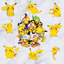 Wandtattoos Pokemon Pikachu Cartoon Wand