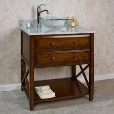wood bathroom vanity. Bathroom. . Bathroom Decoration With Vintage Red Cherry Wood Vanity Open Shelf Including White A
