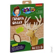 <b>Bondibon деревянный</b> пазл 3D Голова оленя купить по цене 390 ...