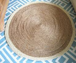 round sisal rug round jute rug 7 foot round sisal rug with black border