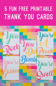 To download these resources, just click on the image below as always. 5 Fun Free Printable Thank You Cards In A Modern Colourful Design Bespoke Bride Wedding Blog