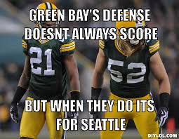 Green Bay Packers Memes | Green Bay's defense doesnt always score ... via Relatably.com