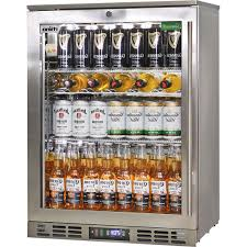 rhino 1 door heated glass door bar fridge see wine shelving in this pic
