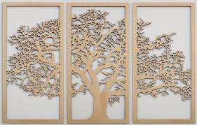 skyline work tree of life 3d maple 3 panel wood wall art beautiful