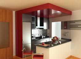 design compact kitchen ideas small layout:  compact kitchen design for small spaces with white table bar and refrigerator