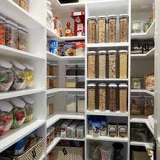 pantry shelves organized pantry with woven bins pantry shelves depth pantry shelves