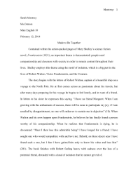 frankenstein theme analysis example doc frankenstien essay