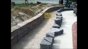 stone patio installation: keystone country manor retaining wall amp flagstone patio installation spring grove pa ryans lan