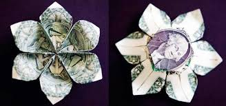 Paper Folded Flower Money Origami Flower Edition 10 Different Ways To Fold A