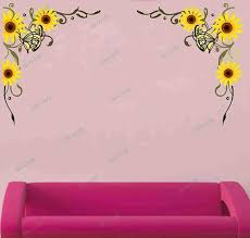 multicolor multiple decor kafe sunflower flower wall stickers living room wedding room decoration home decor