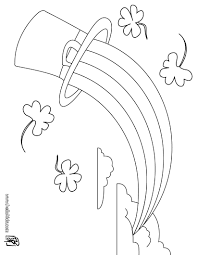 Leprechaun And Rainbow Coloring Pages - GetColoringPages.com