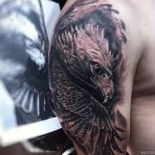 сокол и крылья тату на плече у парня добавлено иван вишневский