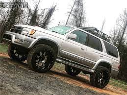 Shop our complete selection for a wide range of vehicle makes & models. 1999 Toyota 4runner Wheel Offset Aggressive 1 Outside Fender Suspension Lift 3 360971 Custom Offsets