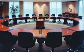 white shaker modern kitchen custom round boardroom table