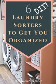 Diy laundry sorter Teal Room Decor The Cameron Team Diy Laundry Sorters To Get You Organized The Cameron Team
