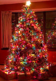 colourful Christmas tree - YES!