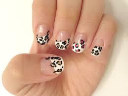Nail Art Designs - Easy Leopard Print Tip Nail Art