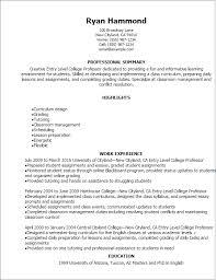... Resume Example, Entry Level College Professor Resume Entry Level  Adjunct Professor Resume College Professor Resume ...