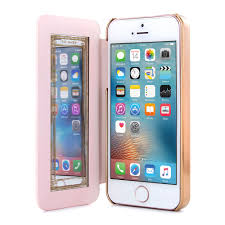 iphone 5s gold case. ted baker ss16 shaen mirror folio case for iphone 5 / 5s - nude/rose iphone 5s gold