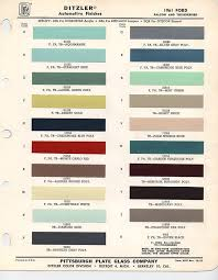 Ford Falcon Colour Chart Image Result For What Colors Did The 61 Ford Falcon Van Come