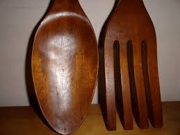 vintage giant spoon and fork wall decor kitchen or dining