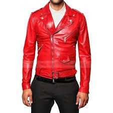 men s elegant red biker leather jacket cairoamani com