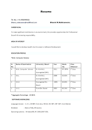 Pdf Format Resume Free Resume Templates Resume Template For Fresher