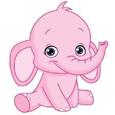 Baby Elephant Drawings Pink Elephant Cute Cartoon Clip Art Images Elephants Are The