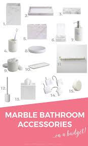 marble bathroom accessories1