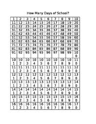 180 Days Of School Chart How Many Days Of School Chart Autism