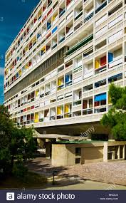 La Cite Radieuse Le Corbusier Marseille Provence France Stock