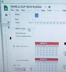 Make Online Spreadsheet Easy Search World Cup Calendar World Cup