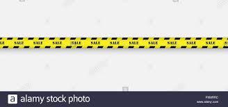 Black And Yellow Stripes Border Sale Background With Black And Yellow Striped Borders Vector
