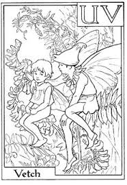 Small Picture Flower Fairies Alphabet A Color it Yourself Art