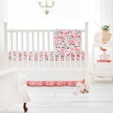 Floral Crib Bedding Coral Baby Bedding